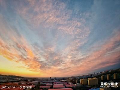 新疆晚一点的云彩