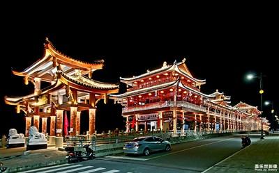 超广角和超级夜景的随拍——家乡的廊桥
