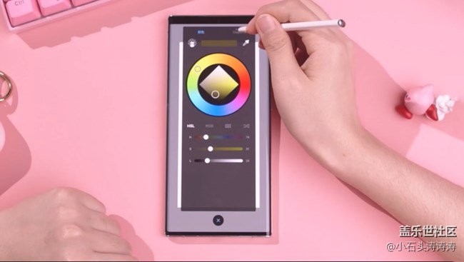 Galaxy Note20 S Pen大创作  画一只粉色大魔王!